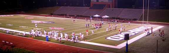 Samford Bulldogs practice at Seibert Stadium in August 2006