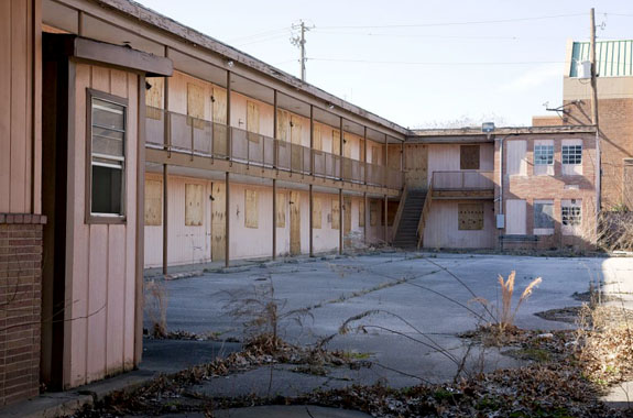 Courtyard of the A. G. Gaston Motel in 2010