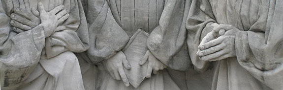 Detail of Kneeling ministers statue by Raymond Kasky at Kelly Ingram Park. Photographed February 11, 2006 by Chris Denbow