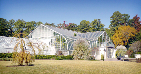 The main conservatory at the Birmingham Botanical Gardens in 2008