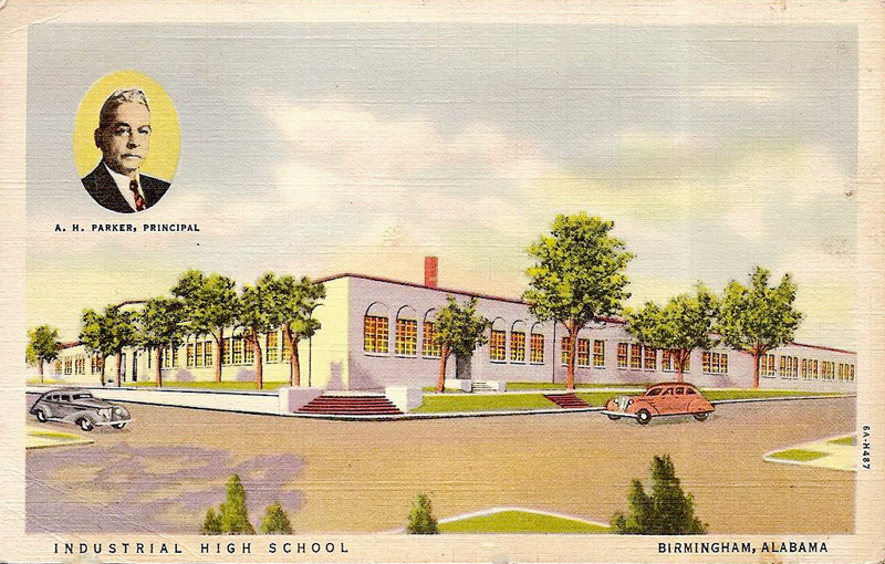 Postcard view of Industrial High School