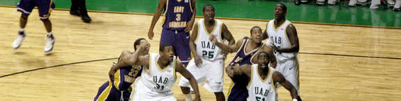 UAB Blazers 77 - East Carolina Pirates 59. Photographed January 23, 2008 at Bartow Arena by mosesxan