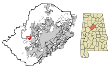 Sylvan Springs locator map.png