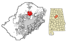 Gardendale locator map.png
