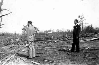 Photo of damage after the storm