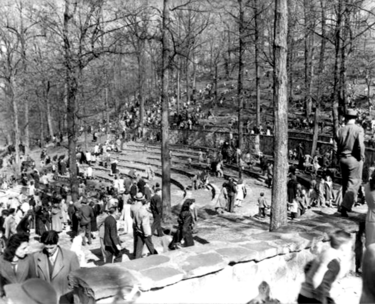 An Easter egg hunt at Avondale Park. Photograph by Charles Preston courtesy BPL Archives