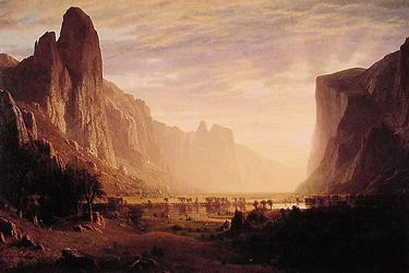 "Albert Bierstadt's ""Looking Down Yosemite Valley"" (1865) was given to the museum by the Birmingham Public Library in 1991."