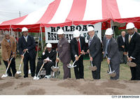 Groundbreaking for the park on October 6, 2006