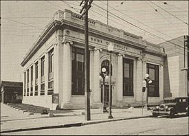 1917 Bank of Ensley building as it appeared in a 1929 advertisement for the Georgia Marble Co.