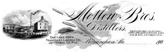 Letterhead of the Motlow Brothers Distillers
