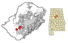 Hueytown locator map.png