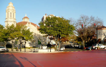 The circle painted red in November 2008