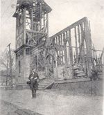 Bryan observes the damage of the 1901 fire.