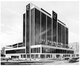 Rendering for the Central Bank and Trust Building