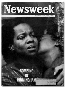 Newsweek's September 30, 1963 edition with a photo of Juanita Jones and Maxine McNair taken by John Friedel on the cover