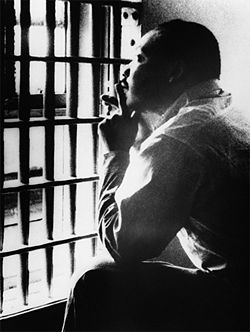 Martin Luther King, Jr in a Jefferson County jail cell in 1967