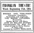 1909 Franklin Theatre ad.png