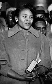 Autherine Lucy in 1956. Photo by Joe Scherschel for LIFE