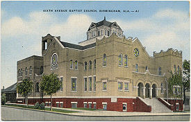 Postcard view of 6th Avenue Baptist Church