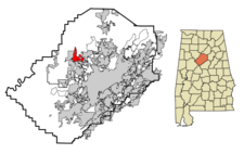 Graysville locator map.png