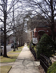 The 2100 block of Highland Avenue in February 2006