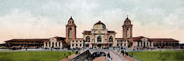 Birmingham Terminal Station, constructed in 1909