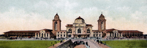 Postcard view of the Birmingham Terminal Station