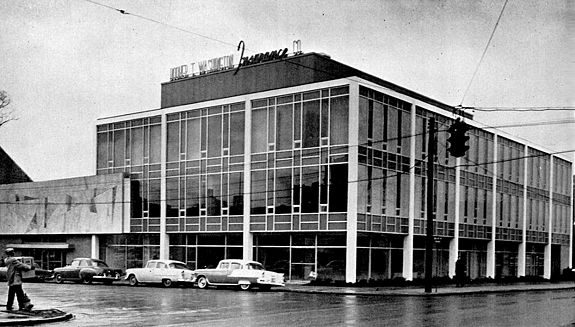 The A. G. Gaston Building when it opened in 1960