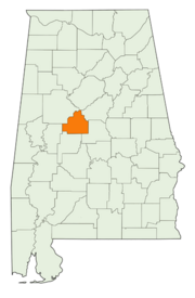 Location of Bibb County