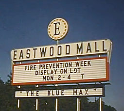 Eastwood Mall's sign in 1966