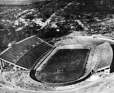 Legion Field in 1927. Photo by the 106th Observation Squadron.
