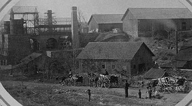 "The Oxmoor Furnaces (called the ""Ironworks at Ironton"") c. 1873"