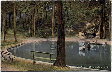 Postcard showing the wading pool at Avondale Park c. 1911