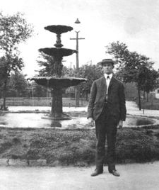 Hudgins' fountain in Capitol Park. Photo by O. V. Hunt courtesy Samford University Library Special Collections