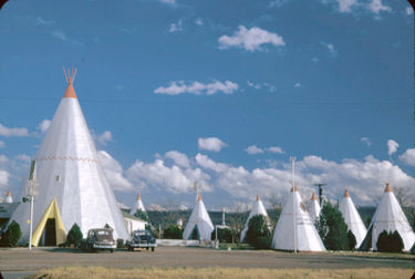 Wigwam Village in December 1951. Photograph by Charles W. Cushman. Courtesy Indiana University Archives