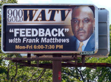 Billboard for Matthew's radio program