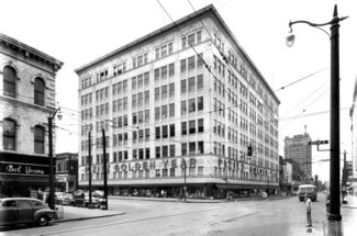 The Pizitz building in 1949, courtesy BPL Archives