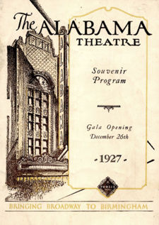 Program from opening night