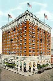Tutwiler Hotel, opened June 15, 1914