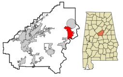 Harpersville locator map.png