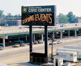The original BJCC sign in 1976