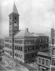 U.S. Court House & Post Office under construction in 1892