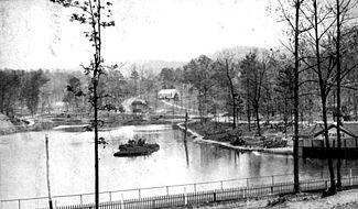 The Lake at Lakeview Park, c. 1889 courtesy BPL Archives