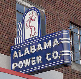 Alabama Power Co. neon sign in Attalla