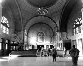 Interior of the station's main lobby. courtesy BPL Archives