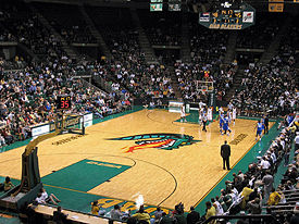 Bartow Arena interior in March 2008. Photo by Chris Denbow
