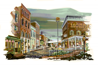 "Rendering for ""Old Town Uptown"" by Bob Moody"