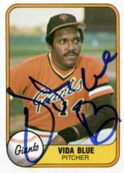 Vida Blue's 1981 Fleer baseball card, #432