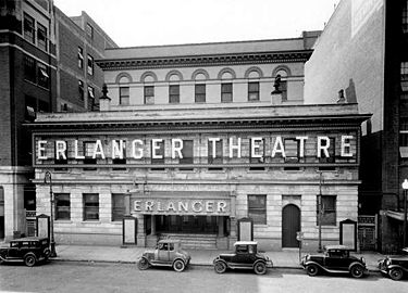 The Erlanger Theatre (formerly the Jefferson) in the 1930s. Photo by O. V. Hunt courtesy BPL Archives