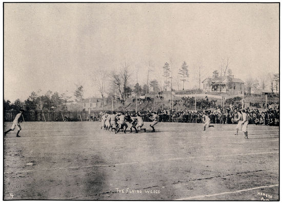 """The Flying Wedge"", photographed during the 1893 Iron Bowl by John Horgan, Jr."
